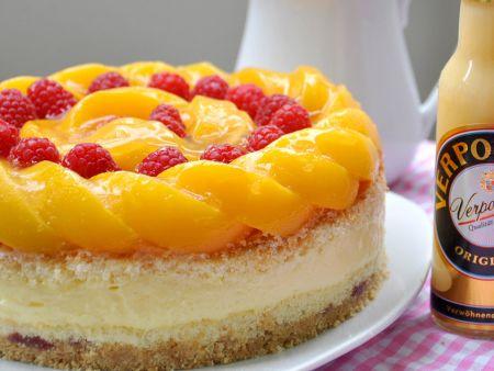Pfirsich Himbeer-Eierlikör Torte