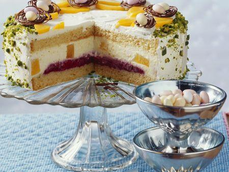 pfirsich melba torte zu ostern rezept eat smarter. Black Bedroom Furniture Sets. Home Design Ideas