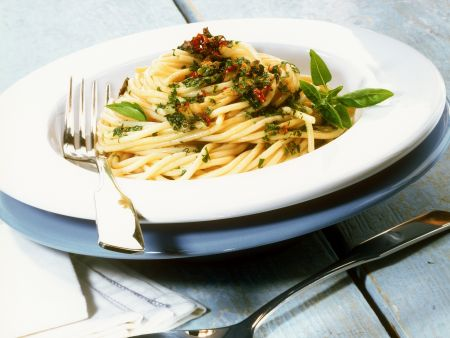 Pikante Spaghetti (aglio,olio e peperoncino)