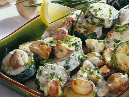 Pilz-Zucchini-Gemüse
