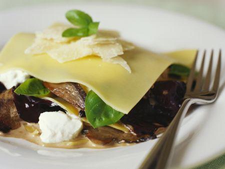 Pilz-Lasagne mit Ricotta