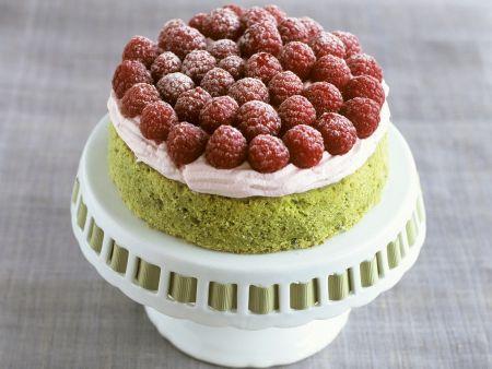 Pistazien-Himbeer-Torte