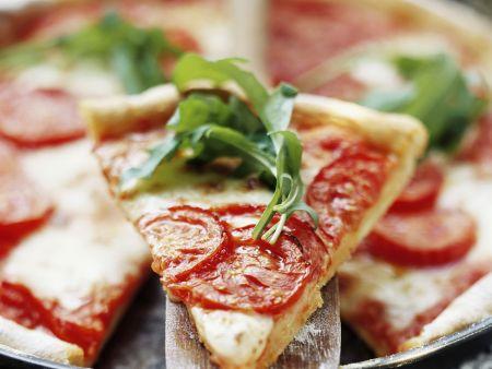 Pizza Margherita mit Rucola