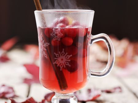 Punsch mit Cranberrys