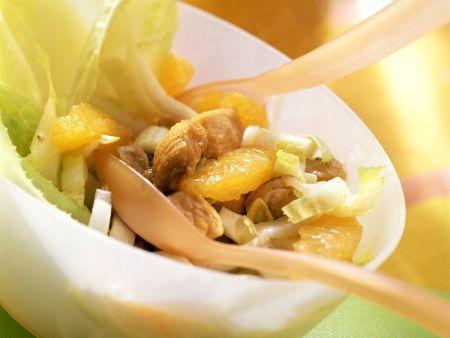 Puten-Chicoreesalat mit Orangen