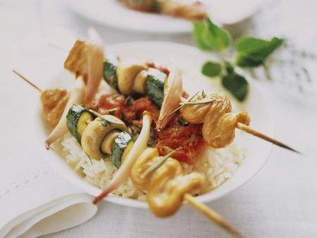 Puten-Gemüse-Spieße