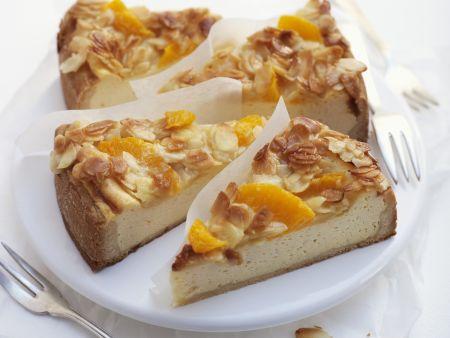 Quarkkuchen mit Orangen