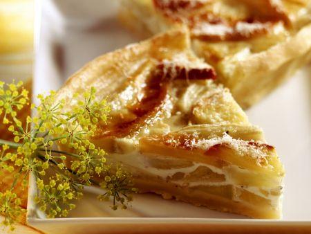 Quiche mit Fenchel, Apfel und Parmesan