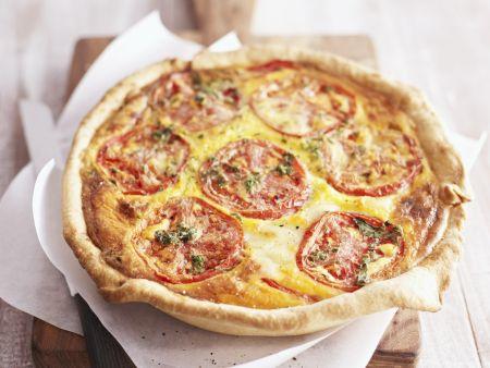 Quiche mit Tomate