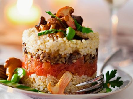 Quinoa-Pilztürmchen