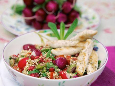 quinoa radieschen salat mit h hnchen rezept eat smarter. Black Bedroom Furniture Sets. Home Design Ideas