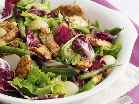 Radicchio-Salat mit Hähnchen