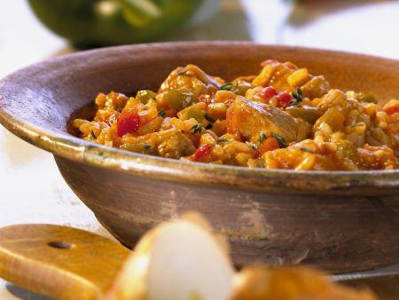 Reis mit Fleisch auf Balkan-Art