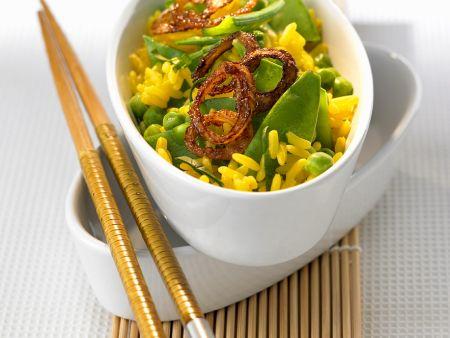 Reis mit Hülsenfrüchten