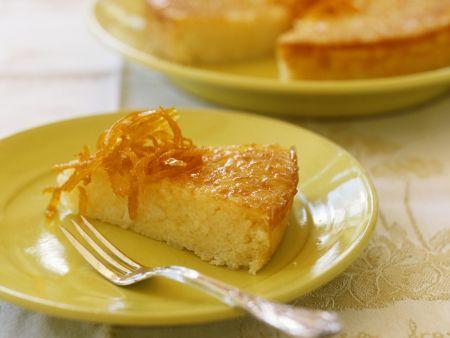 Reiskuchen mit Orangenzesten
