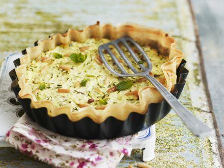 Rezept: Ricotta-Zucchini-Tarte mit Minze