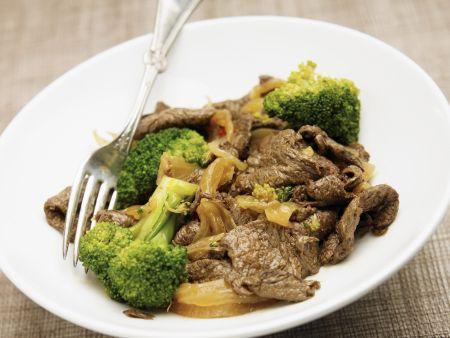 Rindfleisch-Brokkoli-Pfanne