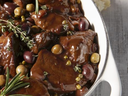 Rindfleisch in Rotweinsoße