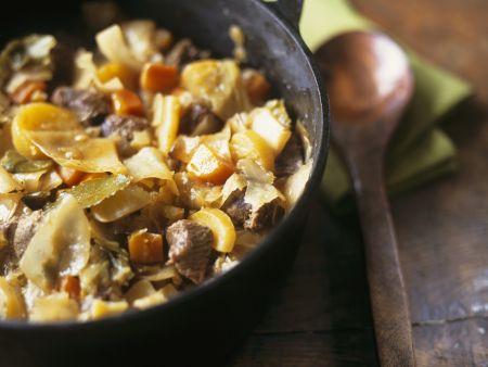 Rindfleischeintopf mit Gemüse