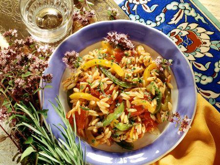 Risoni mit Gemüse