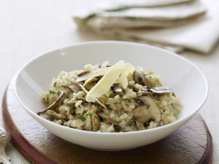 risotto mit champignons rezept eat smarter. Black Bedroom Furniture Sets. Home Design Ideas