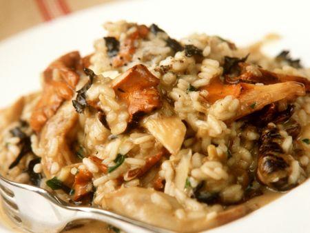 Risotto mit Knoblauch und Pilzen