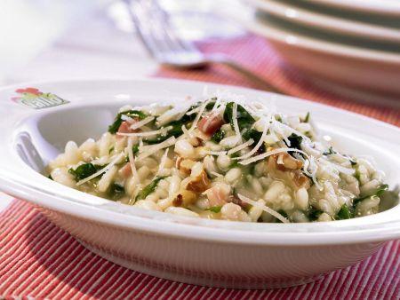 risotto mit spinat und waln ssen rezept eat smarter. Black Bedroom Furniture Sets. Home Design Ideas