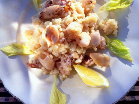 Risotto-Salat mit Calamari
