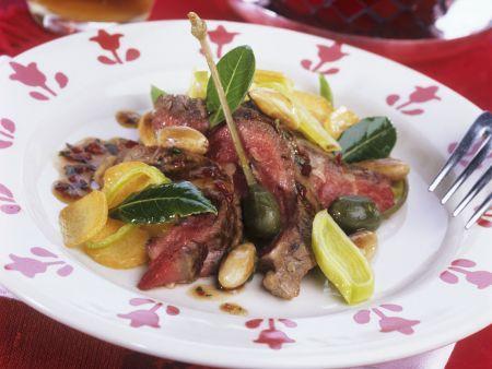 Roastbeef mit Kapern und Mandeln