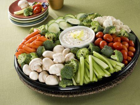 Rohkost-Gemüse mit Quarkdip