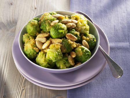 Rosenkohl-Mandel-Gemüse