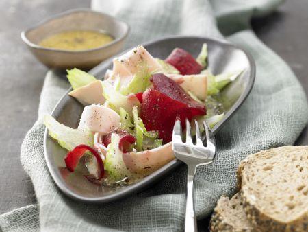 Rote-Bete-Salat mit Putenbrust