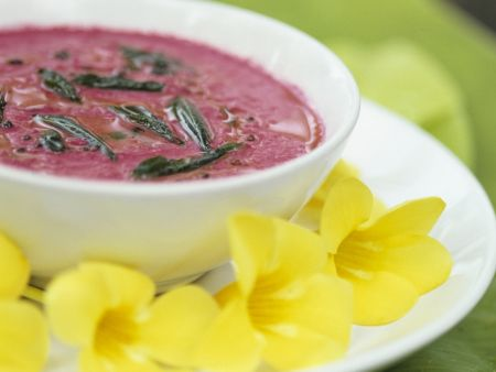 Rote-Bete-Suppe mit Curry