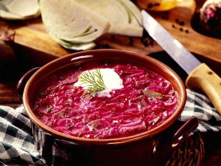 Rote-Bete-Suppe nach schlesischer Art