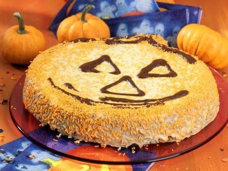 Rübli-Kürbiskern-Halloween-Kuchen