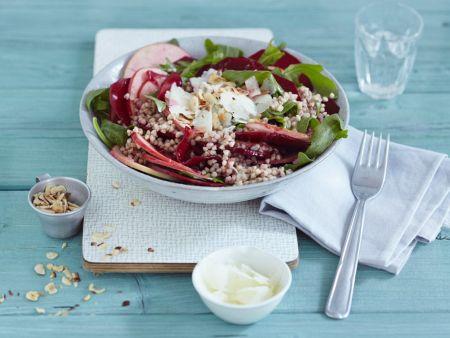 Salat aus Buchweizen, Manchego und Rote Bete