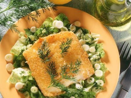 Salat mit gebackenem Käse