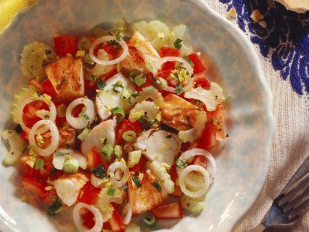 Salat mit Langusten