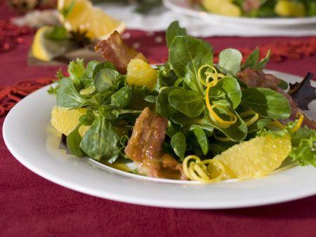 Salat mit Speck und Orangen