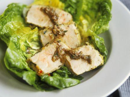 Salat mit Thunfisch aus dem Ofen