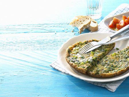 Salat-Omelette