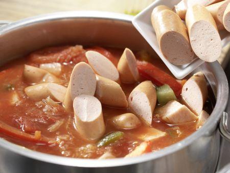Sauerkrautsuppe mit Kassler: Zubereitungsschritt 7