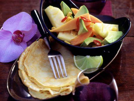Scharfer Avocado-Fruchtsalat