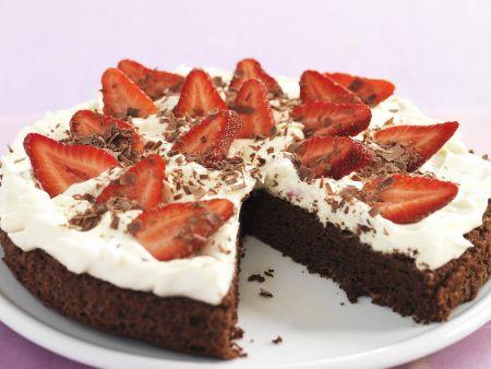 Schoko-Erdbeer-Kuchen