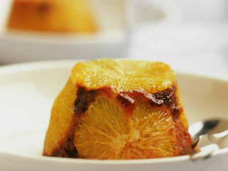 Schoko-Pudding mit Orangen