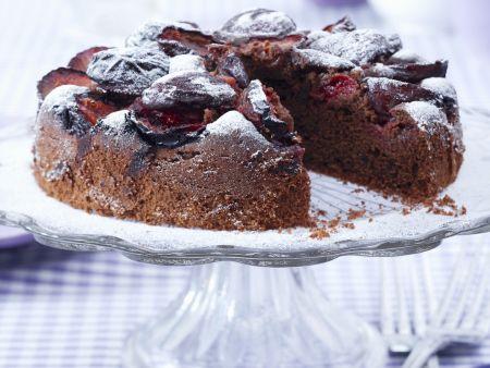 Schoko-Zwetschgen-Kuchen