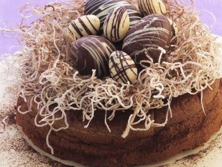 Schokoladenkuchen zu Ostern