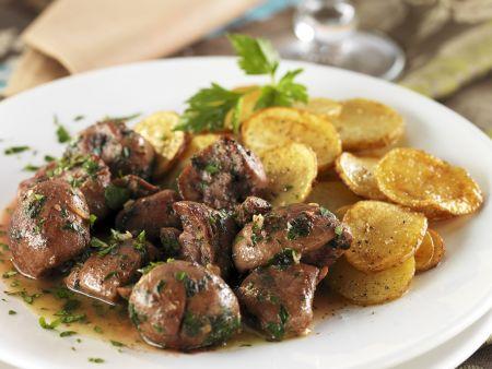 Schweinenieren mit Kartoffelbeilage