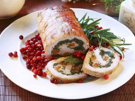 Schweinerollbraten mit Spinat-Karotten-Füllung