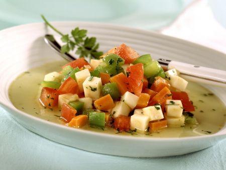 Sellerieeintopf mit Paprika und Tomaten